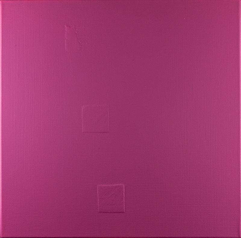 Damaged Square In Magenta